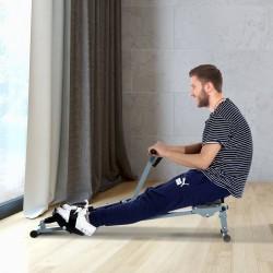 Máquina de Remo Ajustable con Pantalla para Fitness ...