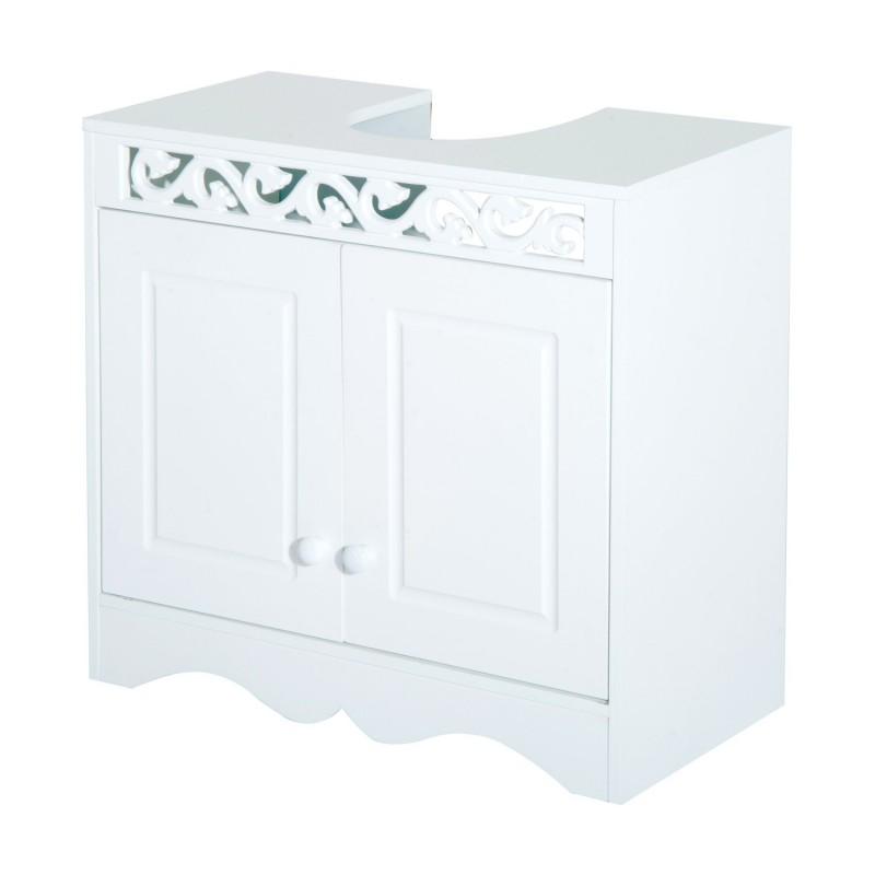 Armario de ba o bajo para lavabo con 2 puertas y es - Armario bajo lavabo pie ...