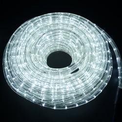 HomCom Cadena Luces LED de Alambre Impermeable Decoración para Navidad Blanco Frio 5M
