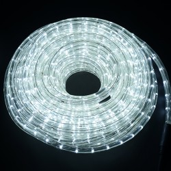 HomCom Cadena Luces LED de Alambre Impermeable Decoración para Navidad Blanco Frio 10M
