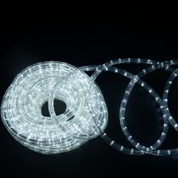 HomCom Cadena Luces LED de Alambre Impermeable Decoración para Navidad Blanco Frio 20M