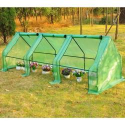 Homcom Invernadero Pequeño con Ventanas - Color Verde - Tubos de Acero y PE 140 g/m2 - 270x90x90cm