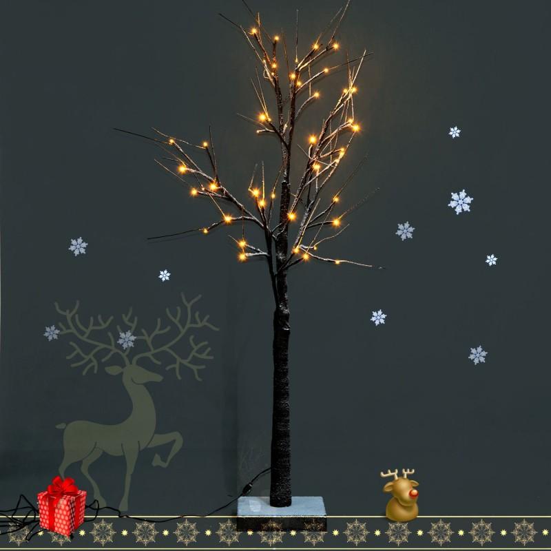 Arbol de navidad decoracion con cuerda 32 luces led - Decoracion luces navidad ...