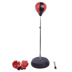 Saco de Boxeo de Pie Punching Ball Entrenamiento MMA Deportes con Guantes y Mancha