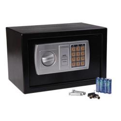 HomCom Caja Fuerte Electronica Negro Acero Sólido 31x20x20 cm