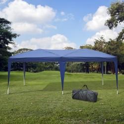 Outsunny Gazebo Pabellón para Jardín Camping Fiesta Tienda Eventos Boda - Color Azul - 6x3m