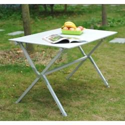 Mesa Plegable de Camping - Aluminio Laminado - 116x70x69cm