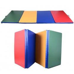 Colchoneta de Gimnasia Plegable en 4 partes para Yoga/Gimnasio 245x120x5cm