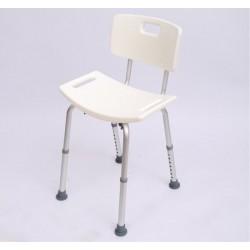 Silla Ducha Aluminio Ayuda Baño Taburete Banqueta Regulable Ajustable WC Asiento