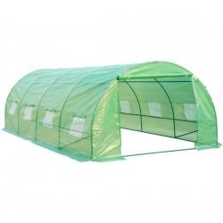 Invernadero de Jardín para Plantas - Color Verde - Acero y Polietileno - 6x3x2m