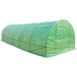 Invernadero de Jardín para Plantas y Huerto - 8x3x2 m Verde.