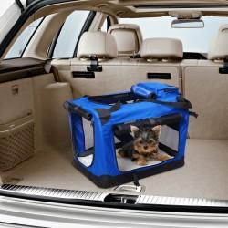 Bolsa Transporte Transportin 70x52x52cm Perros Gatos Mascotas Viaje Tubo de Acero 4 Entradas