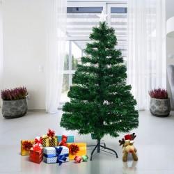 HomCom Arbol de Navidad + Luces LED Arbol Artificial Verde Φ60x120cm
