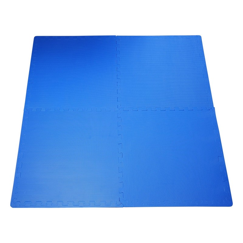 Homcom alfombra puzzle para ni os y beb s azul goma - Alfombras puzzle infantiles ...