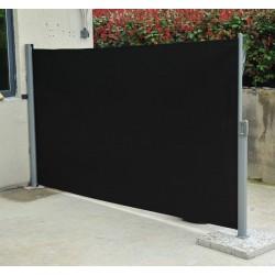 Pantalla Toldo Para Viento Lateral Paraviento Jardin Negro 160 x 300 cm