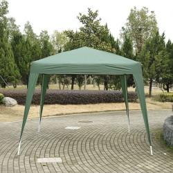 Carpa Plegable e Impermeable de Jardín o Terraza - Color Verde - Acero - 3x3 m