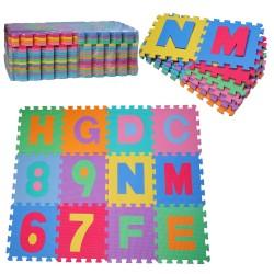 Alfombra Puzzle con Letras y Números para Niños - 36...