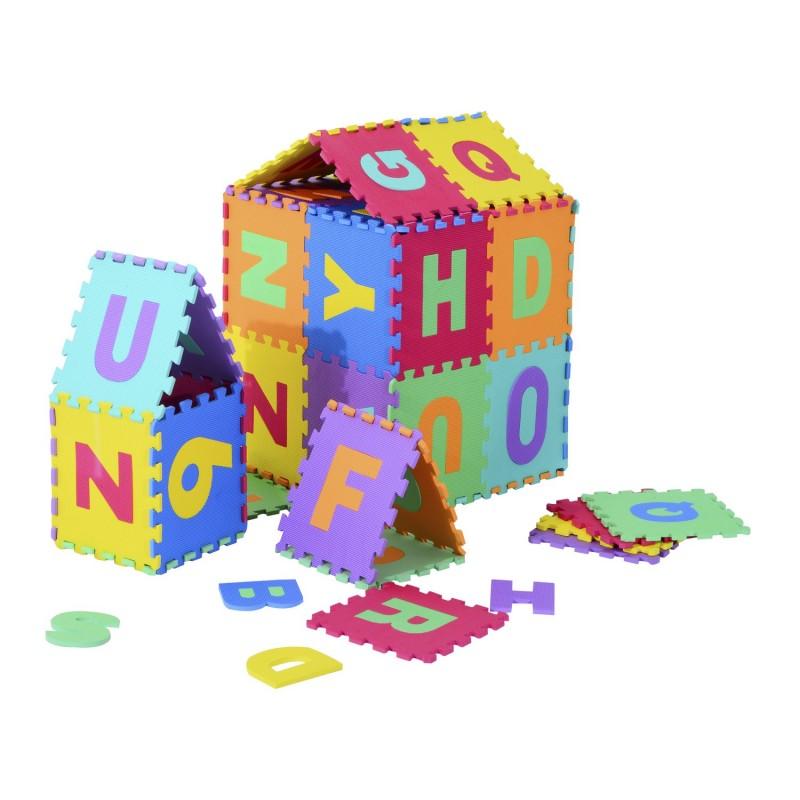 Alfombra puzzle con letras y n meros para ni os 36 - Alfombras de goma espuma para ninos ...