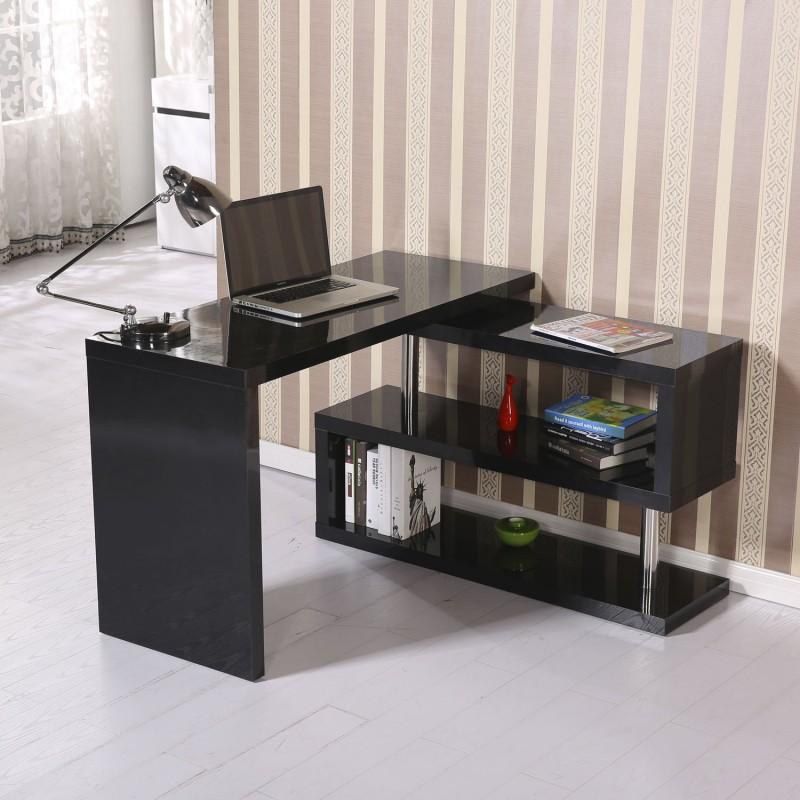 Mesa de oficina para ordenador pc color negro m for Ordenador oficina