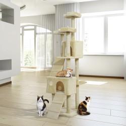 Rascador para Gatos tipo Centro de Juegos con Árbol ...