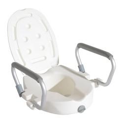 Asiento de WC Inodoro Elevado con Apoyabrazos y Tap...