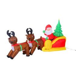 Papa Noel Trineo y 2 Renos de Navidad Inflables 210x...