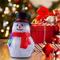 Muñeco de Nieve de Luz LED Decoración de Navidad Co...