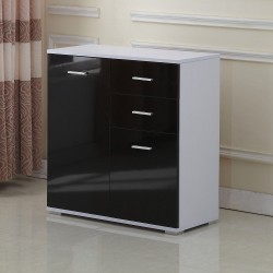 Armario Aluminio 71x35x76cm Aparador Mueble Consola ...
