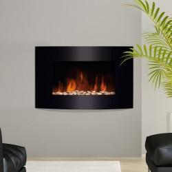 Chimenea Eléctrica con Calefacción y llama LED decor...