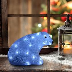 Decoración de Navidad Oso Polar Iluminación Navideñ...
