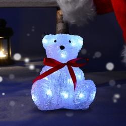 Decoración de Navidad Oso Iluminado Led Efecto Esca...