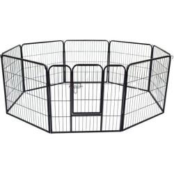 Corral para perros y gatos tipo valla o jaula- 8 pi...