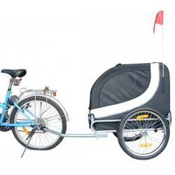 Remolque Bicicleta Perro Mascota 130x90x110cm 1 Band...