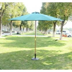 Sombrilla Parasol Verde Madera Terraza Playa Jardín ...