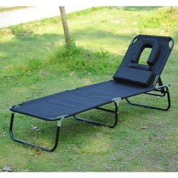 Tumbona Reclinable Acero Hamaca Plegable Playa con A...