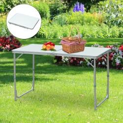Mesa de Camping Plegable y Convertible con Altura R...