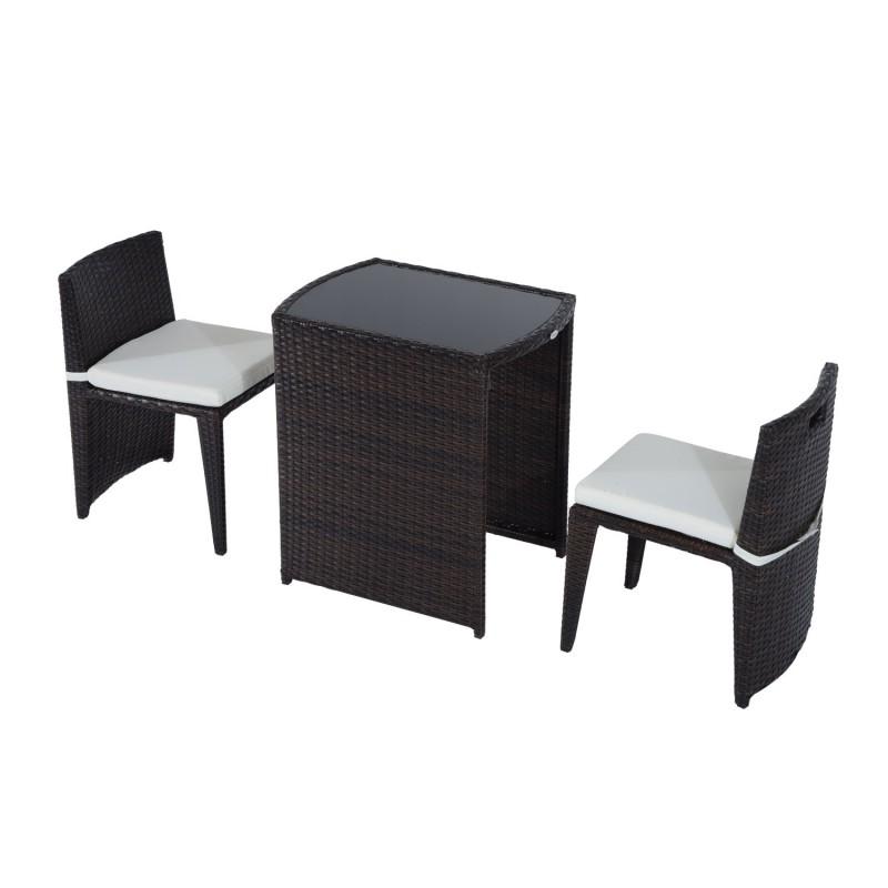 Conjunto Muebles de exterior 1 Mesa y 2 Sillas para ...