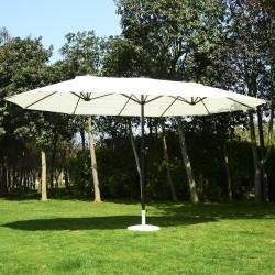 Parasol Marrón y Blanco-Crema Tubo de Aluminio 2.7 ...