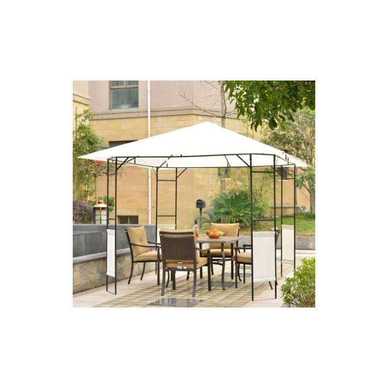 Carpa cenador para jard n o terraza color crema - Cenador para jardin ...