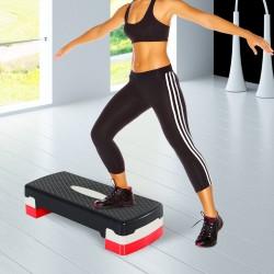 Step Fitness Plastico Negro Gris Rojo 68x29cm...