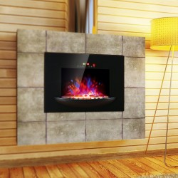 Chimenea Eléctrica con Calefacción y llama LED deco...