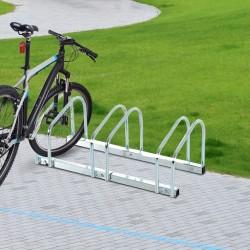 Aparcamiento 3 Bicicletas Acero Plateado 70,5x33x27...