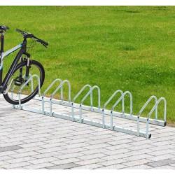 Aparcamiento 5 Bicicletas Acero Plateado 130x33x27c...