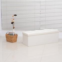 Taburete Plegable Blanco Madera 110x38x38cm...