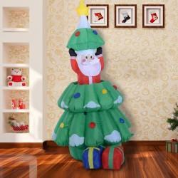 Arbol de Navidad Multicolor Tela 80x70x130-160cm...