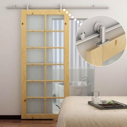 Kit Instalacion Puerta Aluminio Plateado 200x3,15x2...