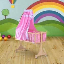 Cuna para Bebe Madera Rosa 94x50x140cm...