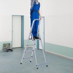 Escalera Aluminio Plateado 144x80x43cm...