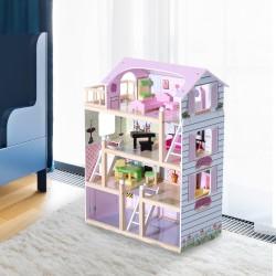 Casa de Muñecas con Muebles Mobiliario Casita Muñeca...