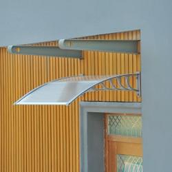 Marquesina de Techo Aluminio Transparente 150x100x2...